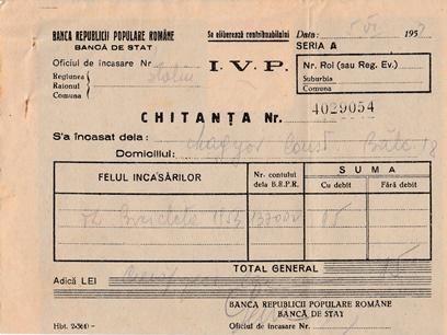 Chitanta 1953