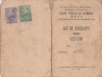 Act de circulatie 1953