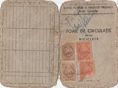 Foaie de circulatie 1953